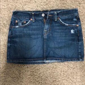 Lucky jean skirt